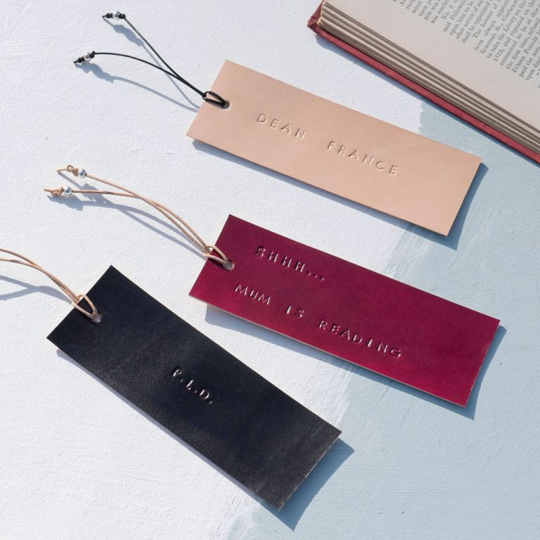 PERSONALISED BOOKMARK WITH SILVER BEADS