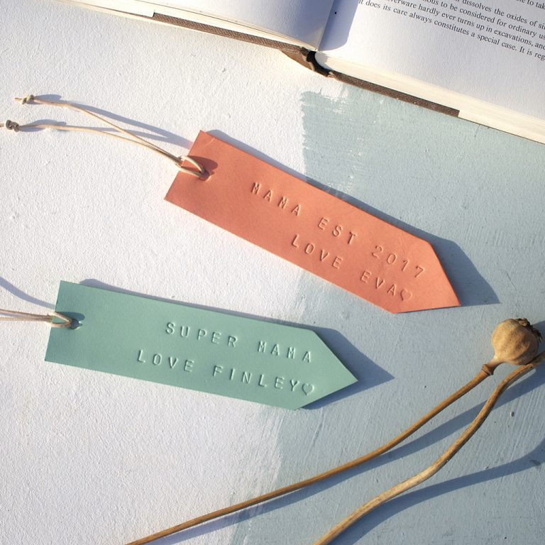 CUSTOM LEATHER BOOKMARK